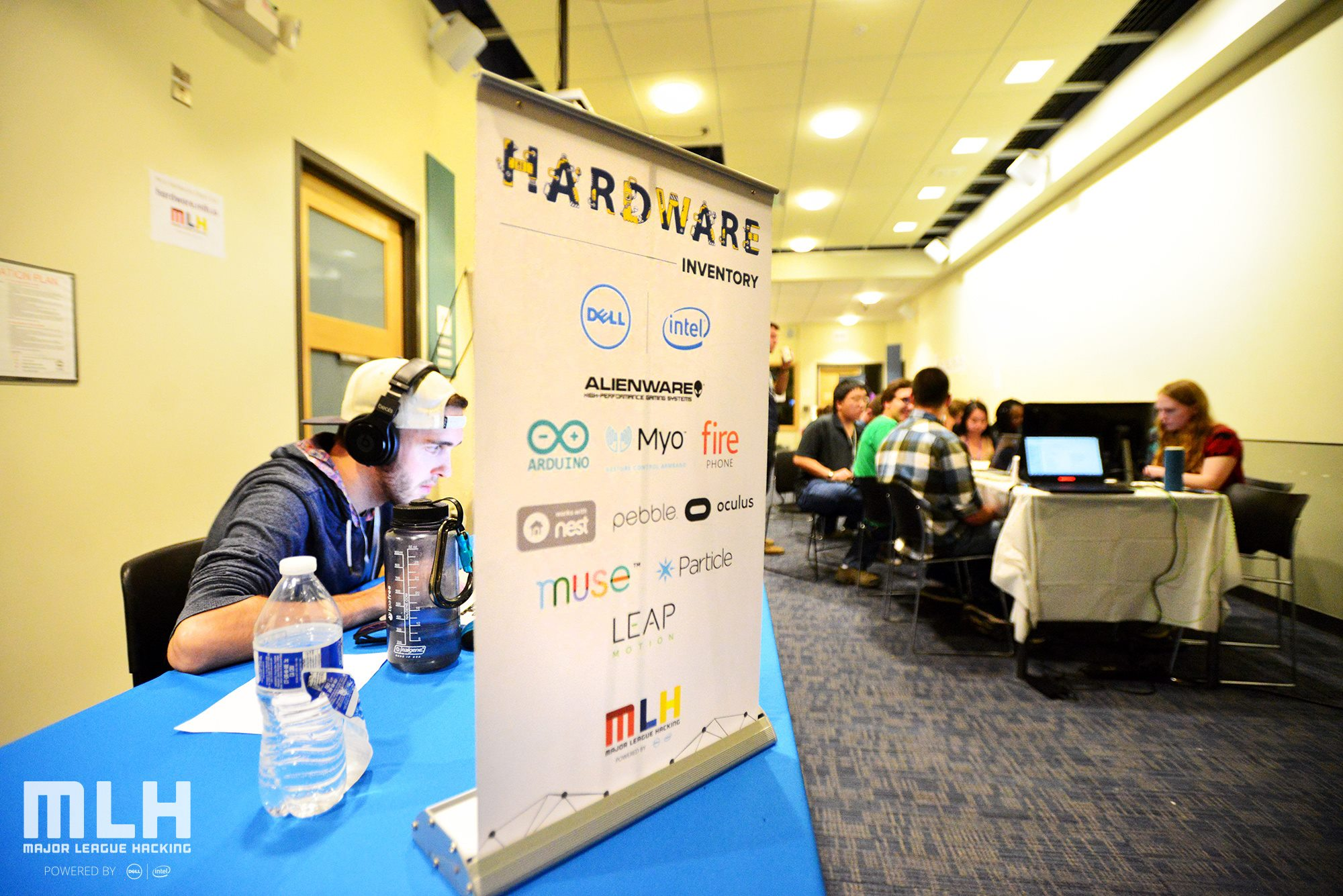 Photos of Major League Hacking's hardware lab.