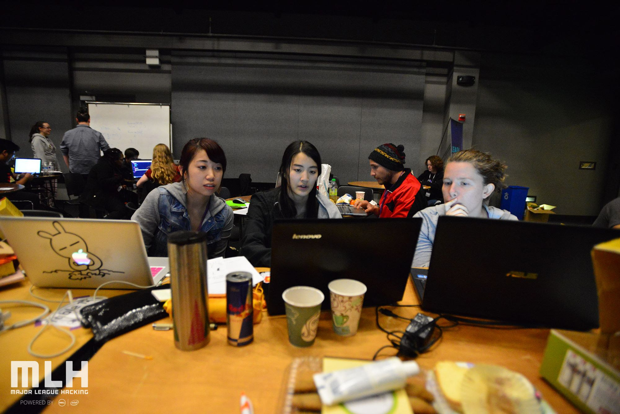 Photos of T9Hackers working.